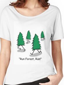 """""""Run Forest, Run!"""" - Forrest Gump Pun Women's Relaxed Fit T-Shirt"""