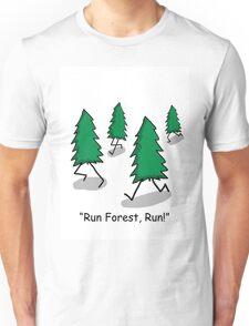 """""""Run Forest, Run!"""" - Forrest Gump Pun Unisex T-Shirt"""