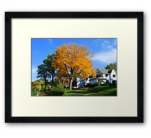 Autumn Colors Around Lake Geneva Wisconsin Framed Print