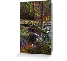 White Azaleas in the swamps of SC Greeting Card
