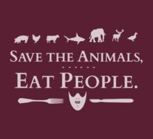save the animals, EAT PEOPLE (2) by FandomizedRose