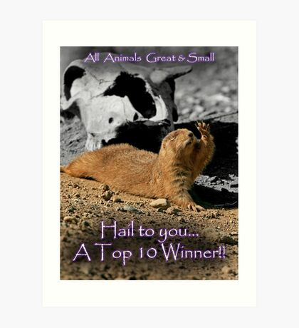 All Animals Great and Smaller Banner Challenge Art Print