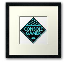Console Gamer (Blue) Framed Print