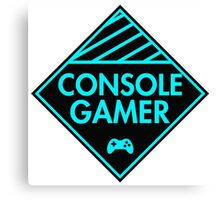 Console Gamer (Blue) Canvas Print