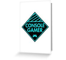 Console Gamer (Blue) Greeting Card