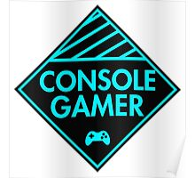 Console Gamer (Blue) Poster