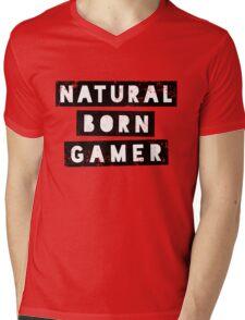 Natural Born Gamer Mens V-Neck T-Shirt