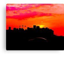 Sundown Drive-by Canvas Print