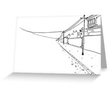 Wire To Nowhere Greeting Card