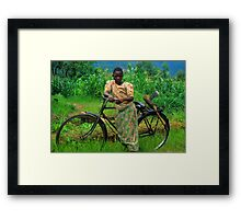 Returning From The Fields Framed Print