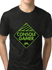 Console Gamer (Green) Tri-blend T-Shirt