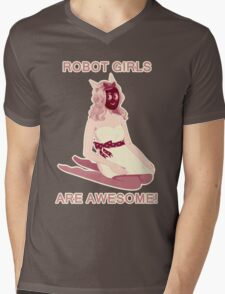 Robot girls are AWESOME! Mens V-Neck T-Shirt