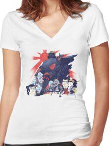 Samurai Wars: Empire Strikes Women's Fitted V-Neck T-Shirt