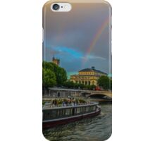 Double rainbow, wedding on a boat, France iPhone Case/Skin