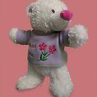 Teddy bear says thank you by Martyn Franklin