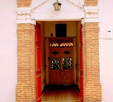 Door with a latin flair by Esperanza Gallego