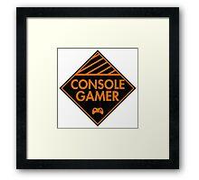 Console Gamer (Orange) Framed Print