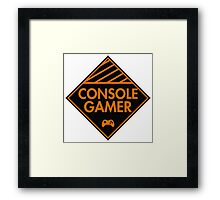 Console Gamer (Orange) Framed Print