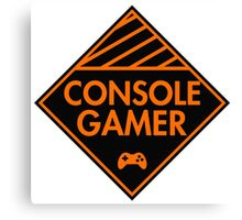 Console Gamer (Orange) Canvas Print