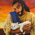 Jesus & cat by Boris J