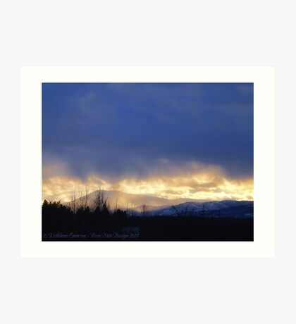 Storm Over Blacktail Mountain Art Print