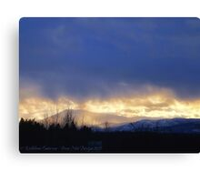 Storm Over Blacktail Mountain Canvas Print