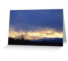 Storm Over Blacktail Mountain Greeting Card