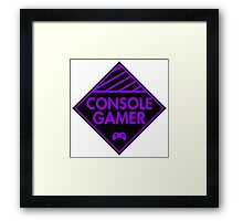 Console Gamer (Purple) Framed Print