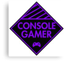 Console Gamer (Purple) Canvas Print