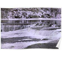 Winter water falls Poster