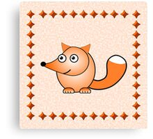 Little Cute Fox Canvas Print
