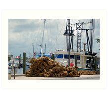 Tarpon Springs sponge boats Art Print