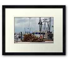 Tarpon Springs sponge boats Framed Print