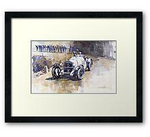 Mercedes Benz SSK 1930 Rudolf Caracciola Framed Print