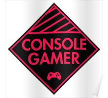 Console Gamer (Red-Pink) Poster