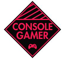 Console Gamer (Red-Pink) Photographic Print