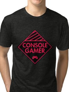 Console Gamer (Red-Pink) Tri-blend T-Shirt