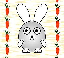 Little Cute Bunny by Anastasiya Malakhova