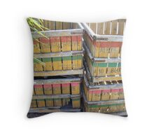 Colorful Crates Throw Pillow