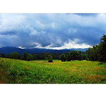 Storm over the Mountains Photographic Print