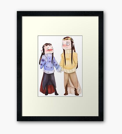 Sweater Elves  Framed Print