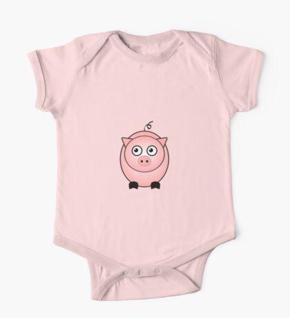 Little Cute Piggy One Piece - Short Sleeve