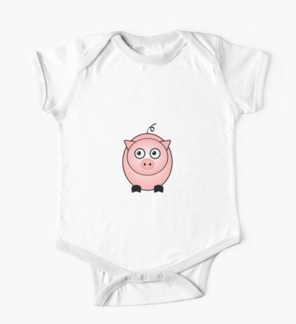 Little Cute Piggy One Piece - Short Sleeve