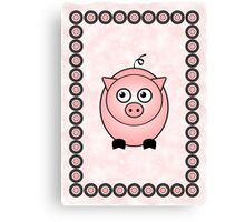 Little Cute Piggy Canvas Print
