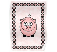 Little Cute Piggy Poster