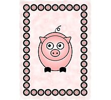 Little Cute Piggy Photographic Print