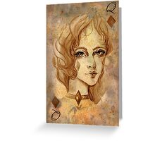 Queen of Diamonds Greeting Card