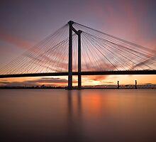 Cable Bridge - Kennewick, Washington by RondaKimbrow