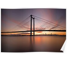 Cable Bridge - Kennewick, Washington Poster