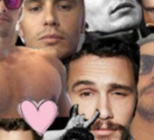 James Franco Collage Sticker